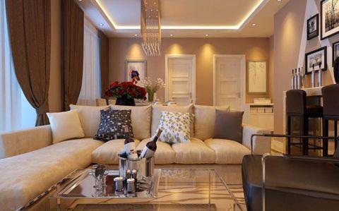 现代简约风格二居室家装案例图片