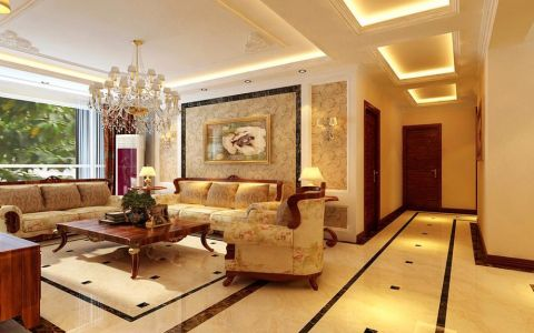 简欧风格三居室家装案例图片
