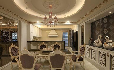 本案沿袭古典欧式风格的主元素,融入了现代的生活元素。居室有的不只是豪华大气,更多的是惬意和浪漫。通过完美的典线,精益求精的细节处理,带给家人不尽的舒服触感,实际上和谐是欧式风格的最高境界