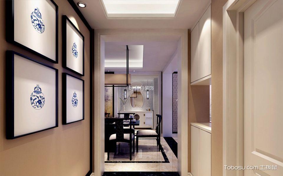 玄关米色照片墙现代风格装饰设计图片