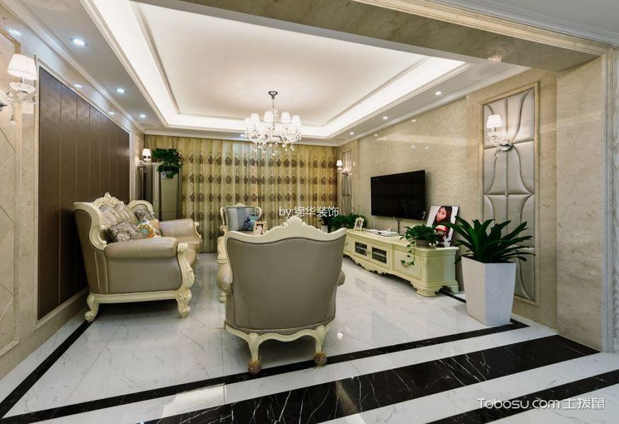 复地悦城140平三室两厅2卫简欧风格实景照片