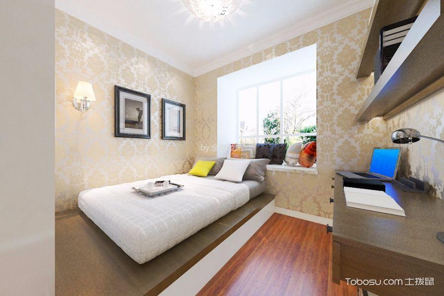 卧室咖啡色榻榻米欧式风格装潢设计图片