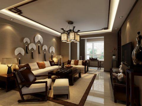 奉天九里新中式风格三居室家装设计图