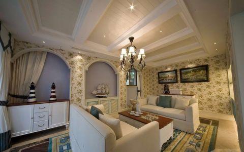 天房天拖地中海风格三居室装修图片