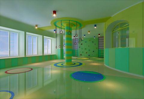 清新童趣的儿童幼儿园工装装修效果图欣赏