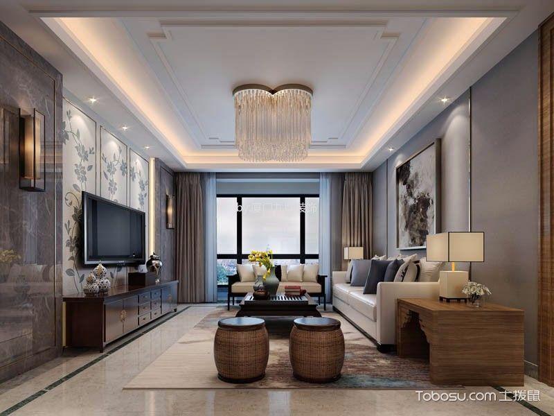 世茂湖滨首府中式风格四室家庭装修案例赏析