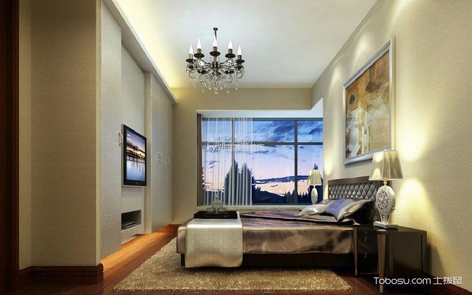 卧室白色灯具现代风格装修设计图片