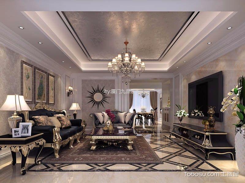 世茂湖滨首府欧式风格家庭四室装修案例赏析
