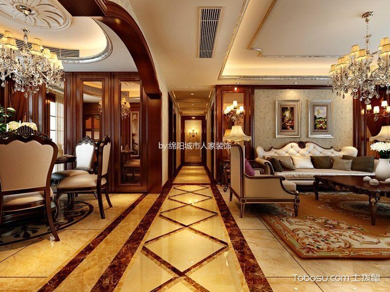 四居室古典美式风格效果图