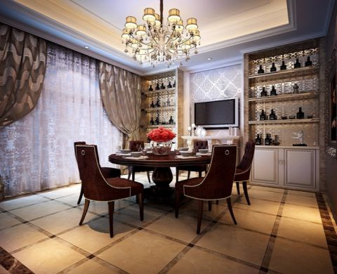 玉泉公寓欧式典雅唯美风格设计装修图片