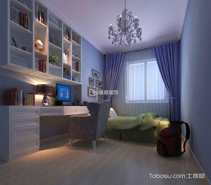 儿童房白色书桌简欧风格装潢效果图