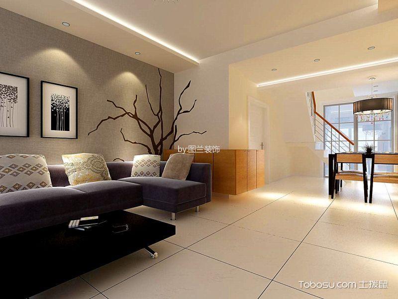 依云小镇后现代客厅设计效果图