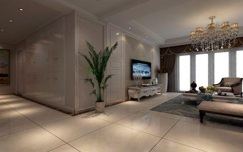 客厅飘窗简欧风格装饰设计图片