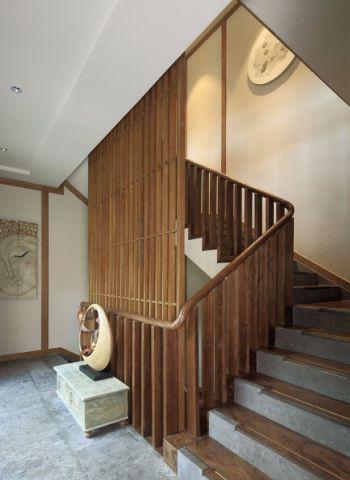 客厅楼梯东南亚风格装饰图片