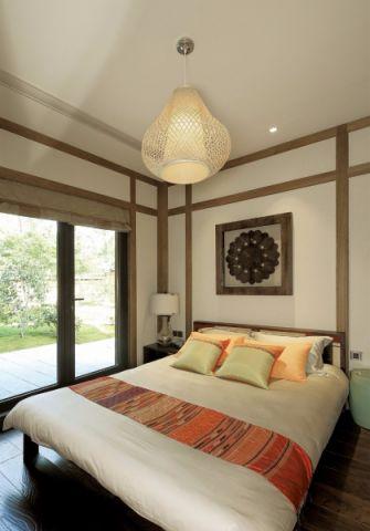 卧室吊顶东南亚风格装潢图片
