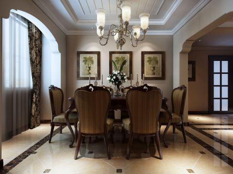 餐厅美式风格装潢图片