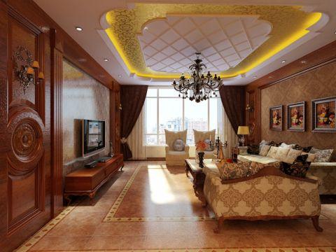 客厅简欧风格装修设计图片