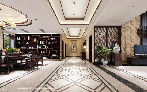 玄关走廊中式风格装饰设计图片