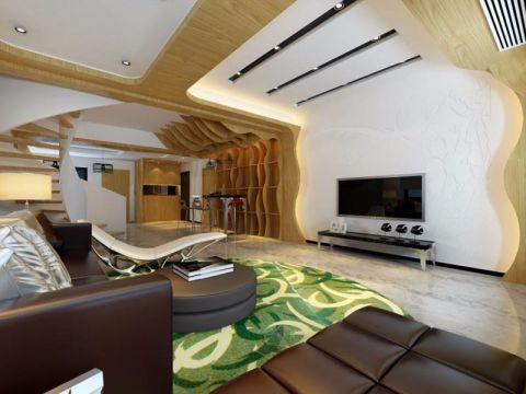 万寿山庄现代风格复式家居装修效果图