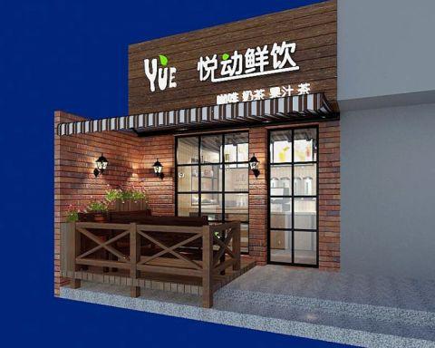 奶茶店现代美式混搭风工装装饰效果图欣赏