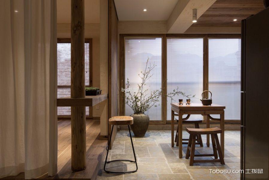 餐厅灰色地砖简约风格装潢效果图
