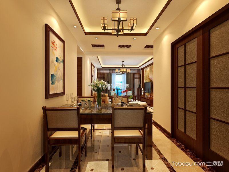 餐厅白色照片墙中式风格装修图片