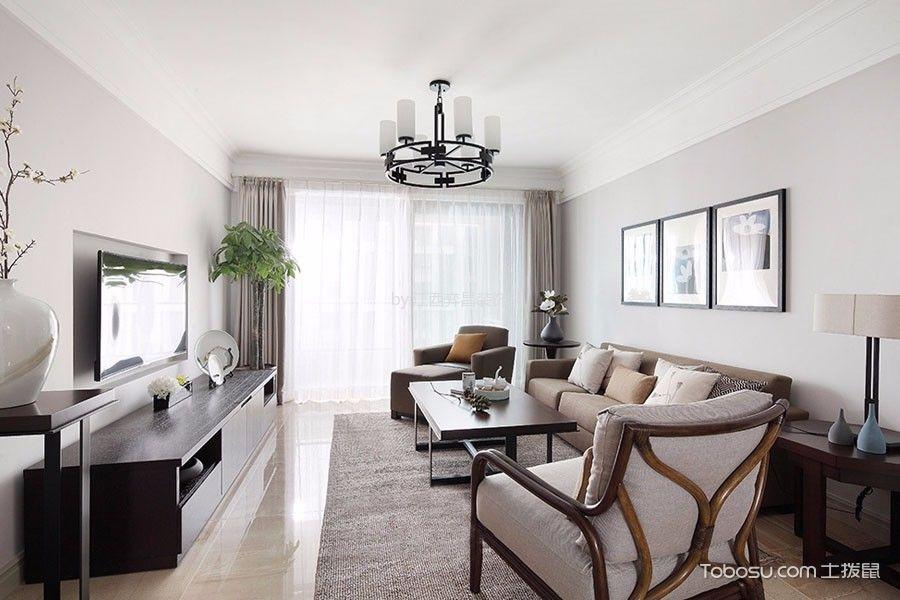 北欧风格120平米三室两厅新房装修效果图