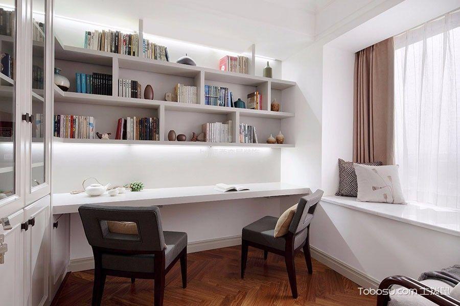 书房白色书桌北欧风格装修效果图