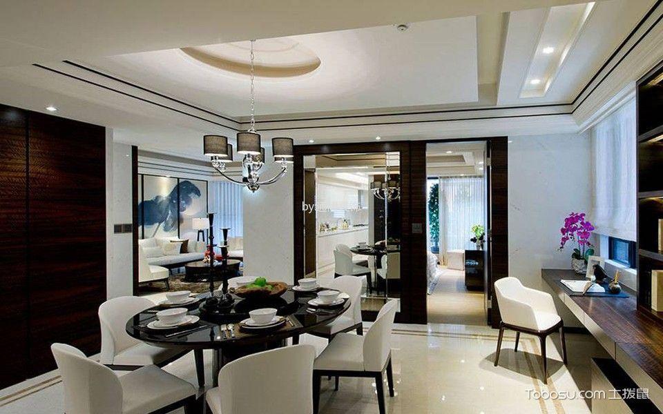 餐厅白色照片墙中式风格装饰设计图片