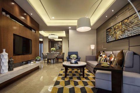 現代簡約風格家居兩房裝修案例圖