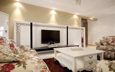 吾悦广场田园风格公寓室内装修图片