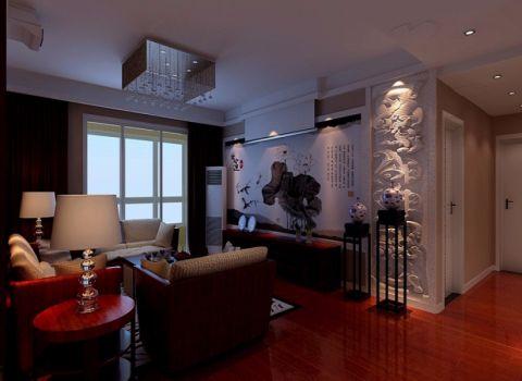 2018中式120平米装修效果图片 2018中式三居室装修设计图片