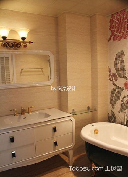 卫生间白色吊顶中式风格装修设计图片