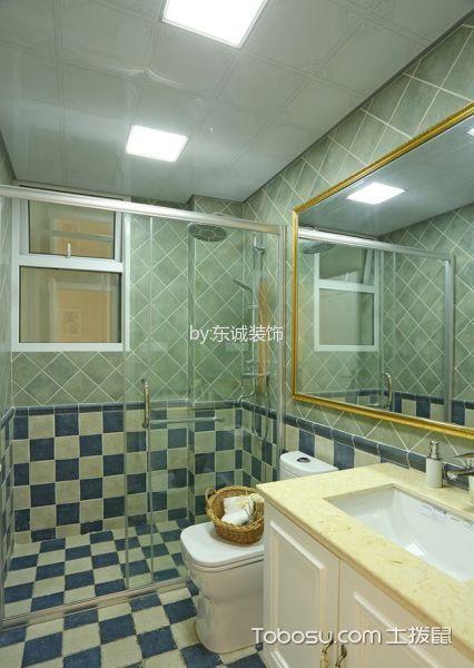 卫生间白色隔断地中海风格装潢设计图片
