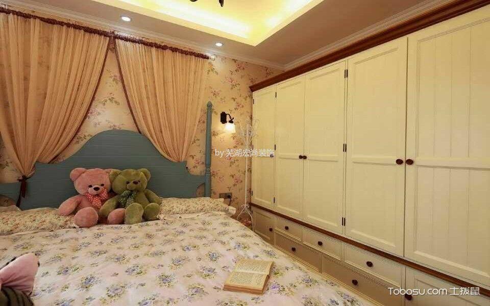 卧室绿色榻榻米地中海风格效果图