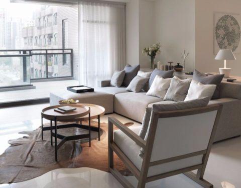 北欧风格二居室家装案例图片