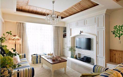 田园风格二居室家装案例图片