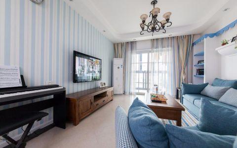 地中海风格二居室家装案例图片