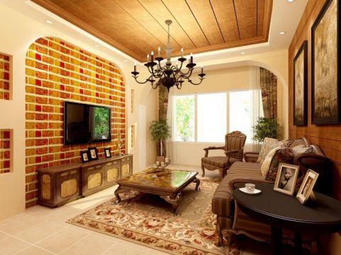 客厅美式风格效果图