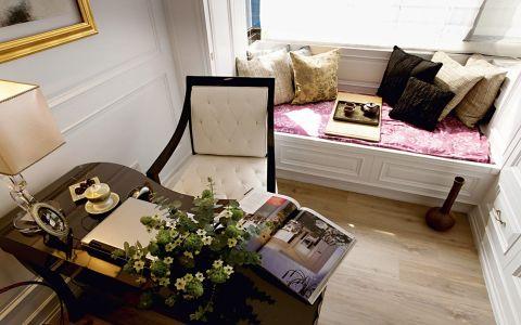书房飘窗现代简约风格装潢效果图