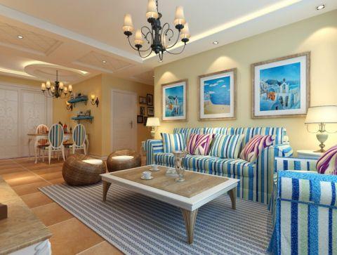 餐厅背景墙地中海风格装饰设计图片