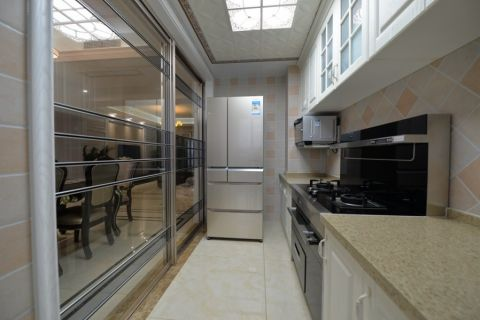 厨房简欧风格装潢图片