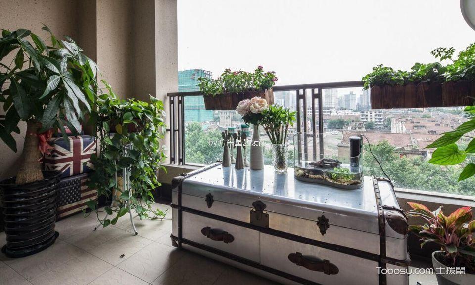 阳台灰色地砖现代风格装饰设计图片
