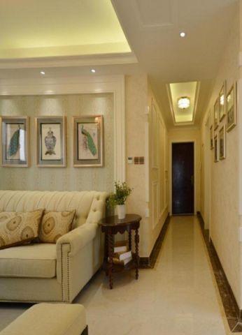 白桦林间小区简中式风格三居室效果图