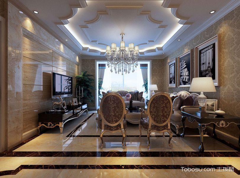 简欧风格135平米三室两厅新房装修效果图