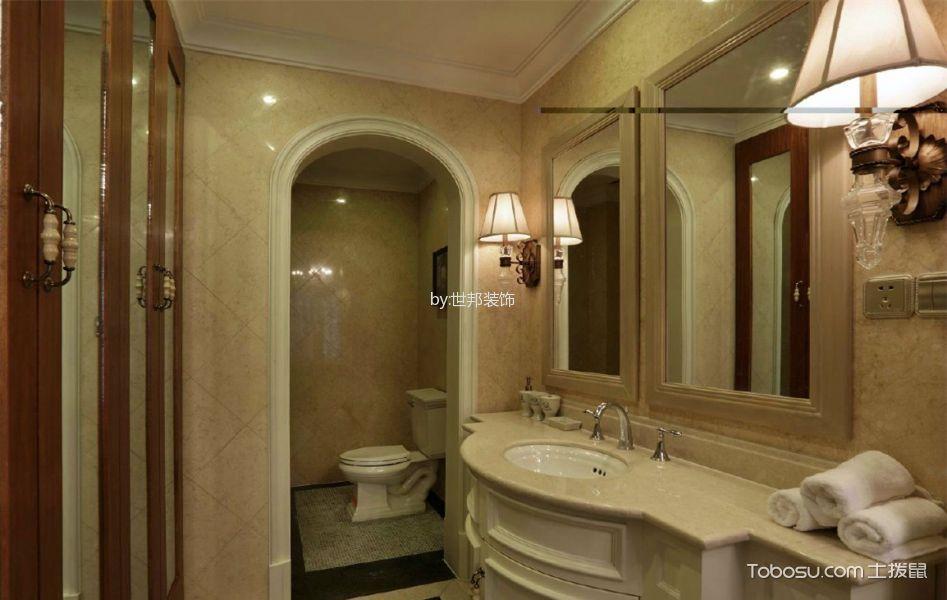 卫生间米色吧台美式风格装修效果图