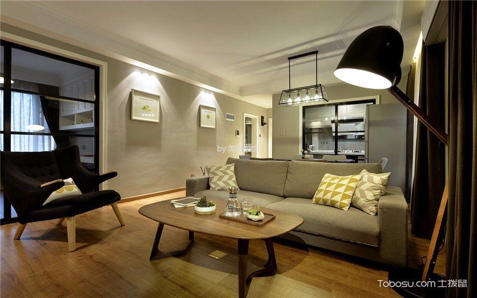 北欧风格86平米三室两厅新房装修效果图