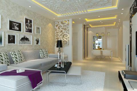 金地国际花园两室两厅一卫现代风格效果图