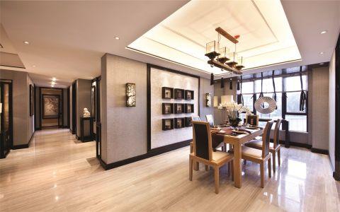 启东自建300平米中式风格别墅装修效果图