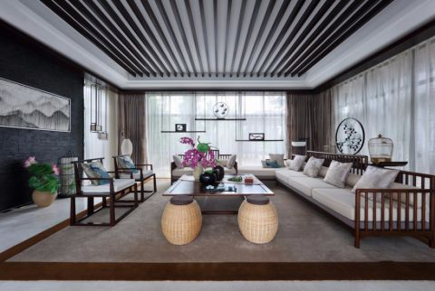 中式别墅风格效果图
